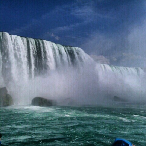 Wet. Niagra Falls. #canada #toronto #niagrafalls #water #waterfall #niagra #wet #vacation #boat #shaviw  (Taken with Instagram)