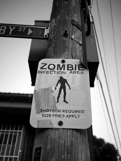 zombify:  Zombie Area warning