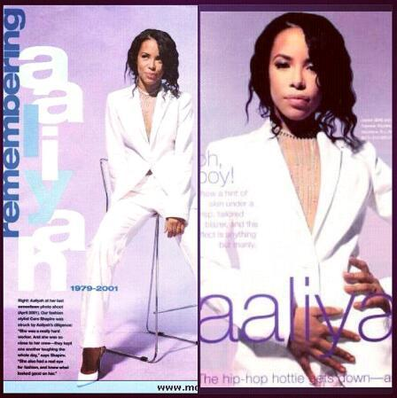Lovee this suit on her    Instagram @rememberingaaliyah