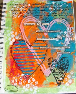 artjournaling:  by Susan at Artful Musings