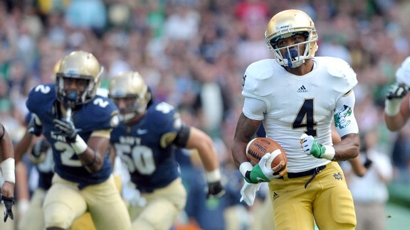 Notre Dame beat the pants off of Navy today in Ireland.