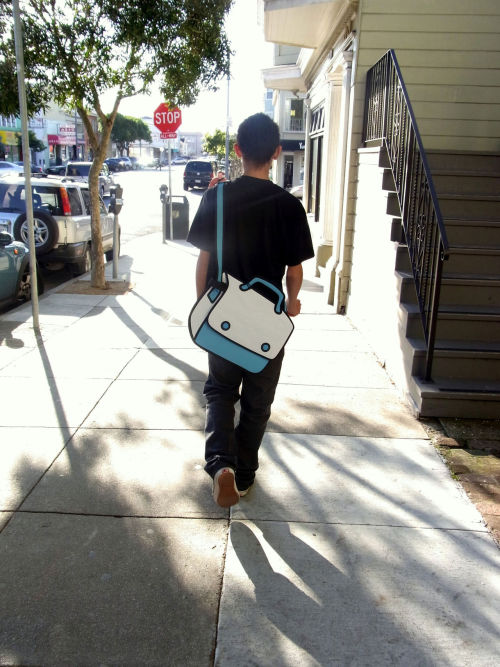 Love these bags that look like cartoons. Found here