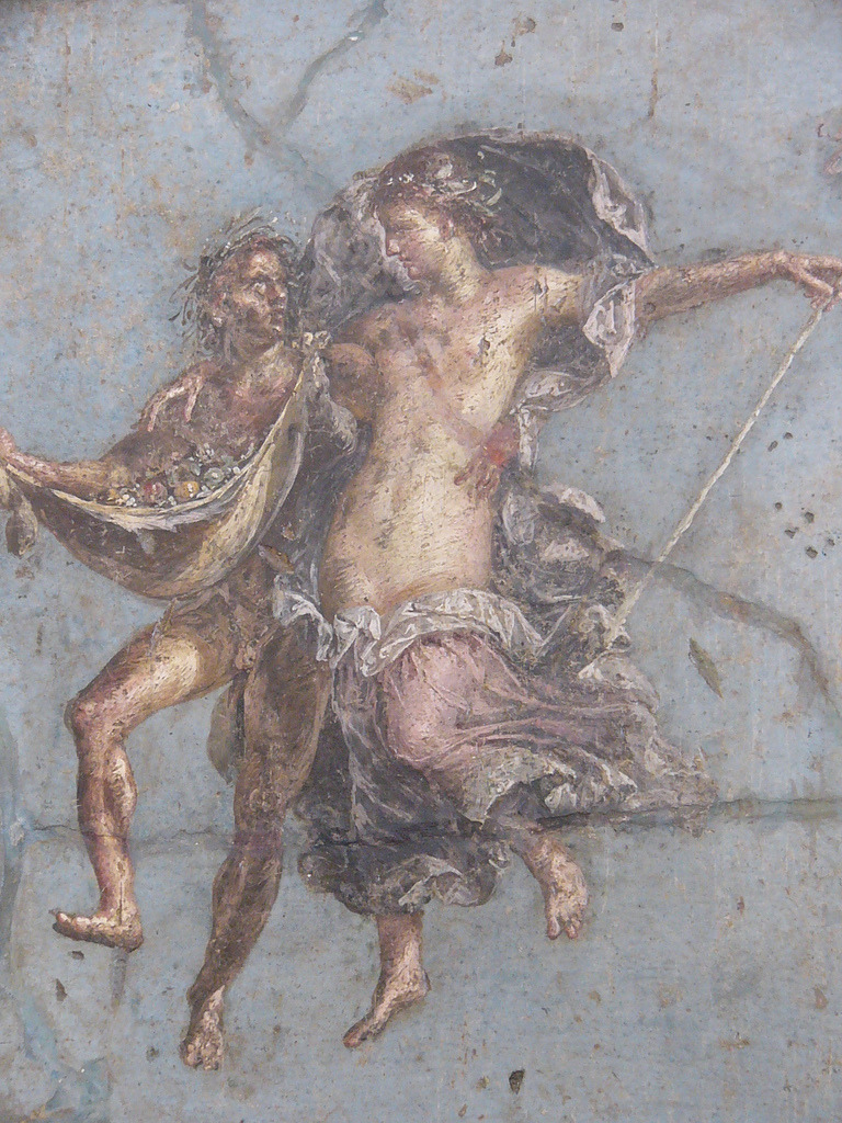 ancientart:  Ancient Roman fresco from the National Archaeological Museum of Naples