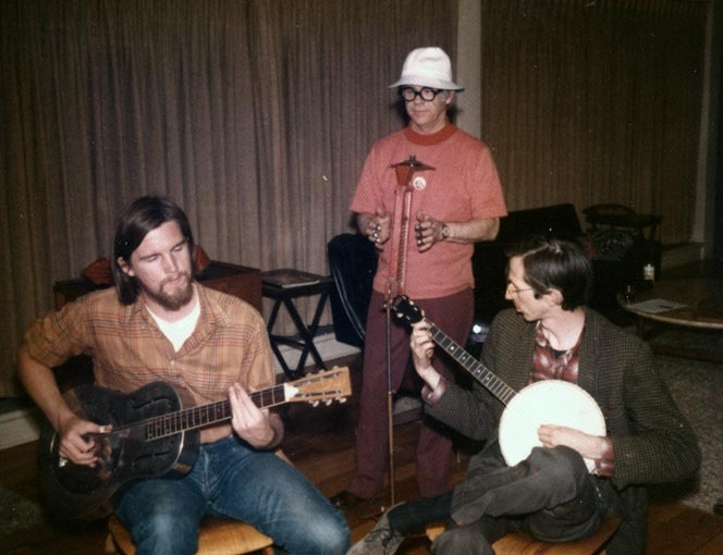 93. Ward having a jam session with (left) MICKEY RAT creator Robert Armstrong and (right) Robert Crumb.