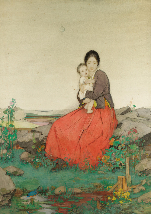 artshers:  Dorothy Webster Hawksley - Mother and Child
