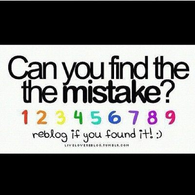When you find the mistake please do not comment the answer  (Taken with Instagram)