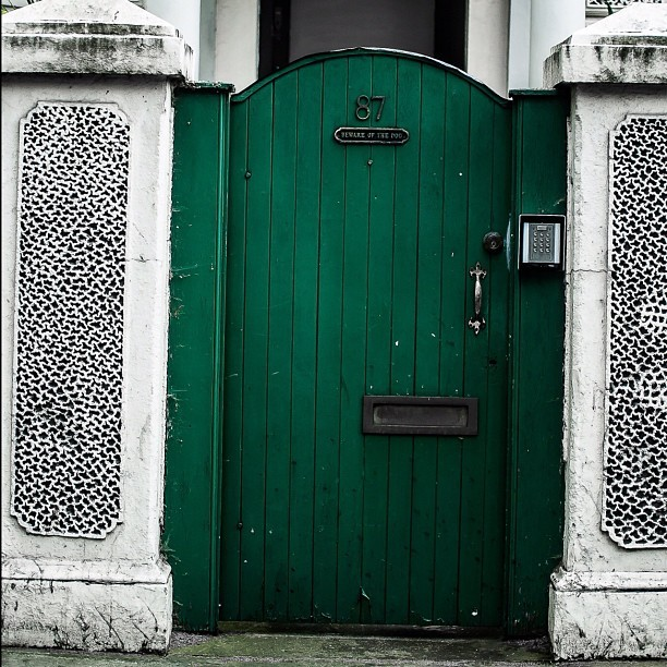 Nigerian flag #nigeria #london #door #home  (Taken with Instagram)