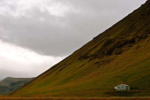 cabinporn:  Green cabin near Vik, Iceland.  Submitted and photographed by Hannah Needleman.