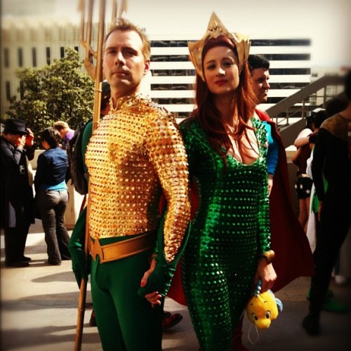 This Aquaman & Mera are simply the best! (@AquamanShrine) #dragoncon  (Taken with Instagram)
