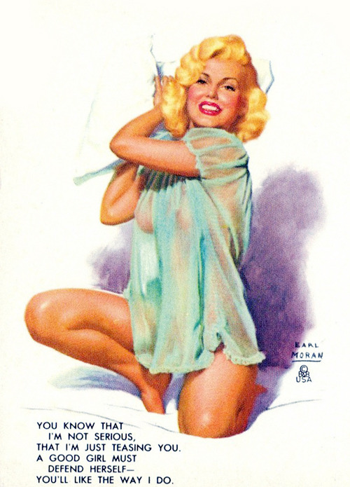 Illustration of Jayne Mansfield by Earl Moran c. 1958