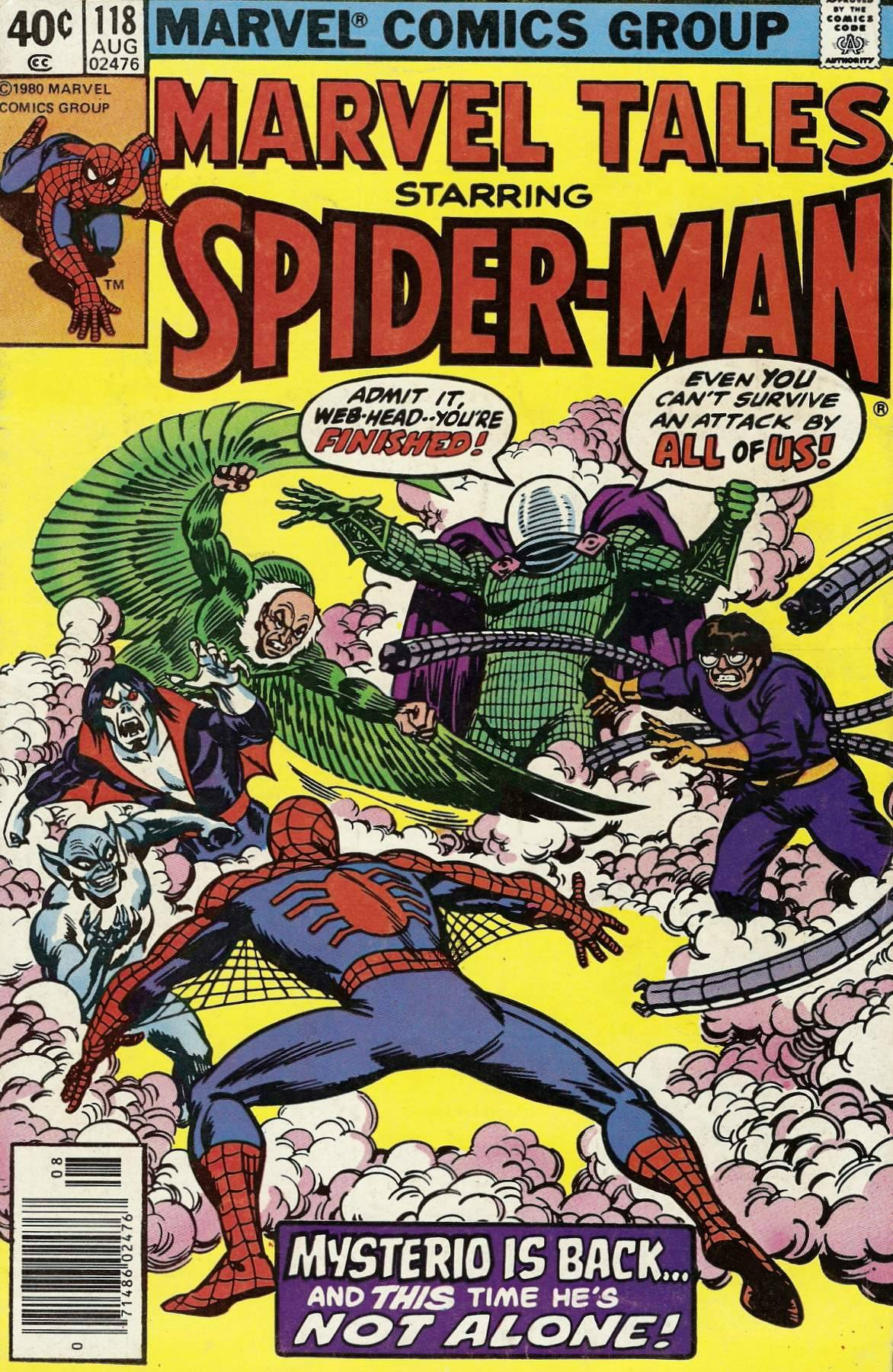 comicbookcovers:  Marvel Tales Starring Spider-Man #118, August 1980, cover by John Romita