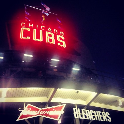 The famous Budweiser Bleachers. #WrigleyField #Cubs (Taken with Instagram)