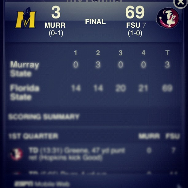 Woooo FSU!! #tallahassee #seminoles #noles #FSU #win #850  (Taken with Instagram)