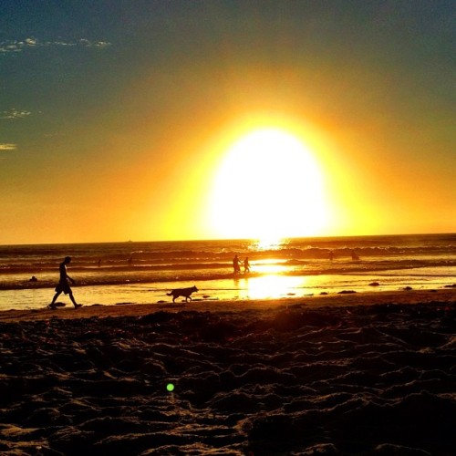#sunset in #sandiego ❤ (Taken with Instagram at Pacific Beach Sand)