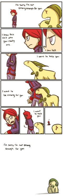 pettyartist:  NCHG— BONUS COMIC- Apologies by *pettyartist  Bayleef.  ; w ;