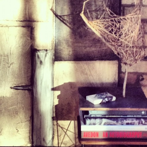 #painting #sculpture #shadows. A favorite corner  (Taken with Instagram)