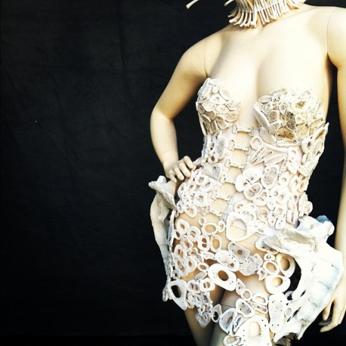 Bone dress. #SantaCruz (Taken with Instagram)