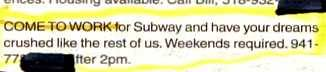 Subway: Crushing your dreams since 1965.
