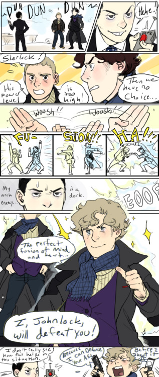 reapersun:  good comeback johnlock —————————————————————————————- (inspired by this cute fanart where it looks like they're fusion dancing : http://deduce-me-doctor-watson.tumblr.com/post/30347758180/ )  oh my god i'm dying here i literally can't process what is happening here let alone deal with it give me this i want it now in fics in canon in fanart everywhere