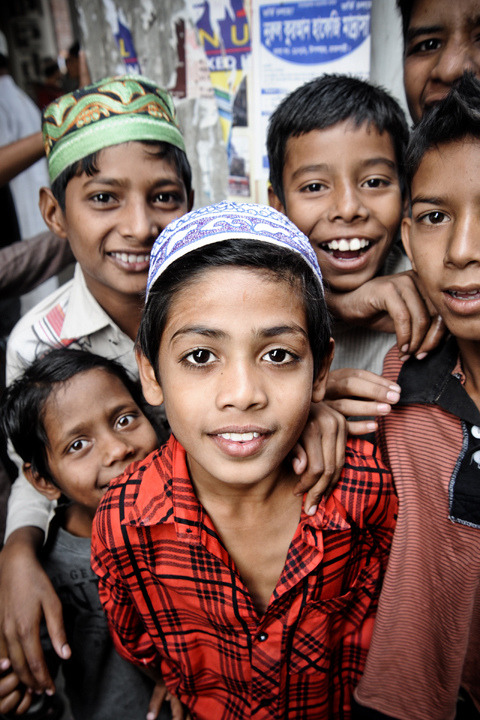 Bangladesh Boys, they all look so happy!