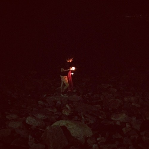 Kaleb venturing toward ocean (Taken with Instagram)