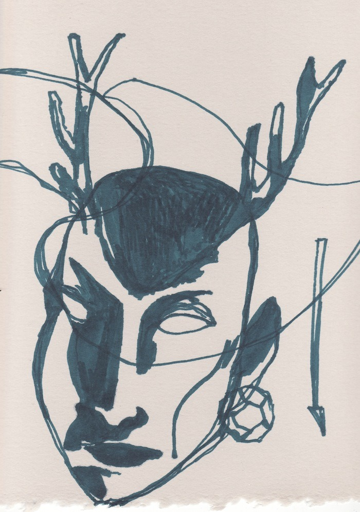 SEER. 2012 Drawing by Topher Mileski