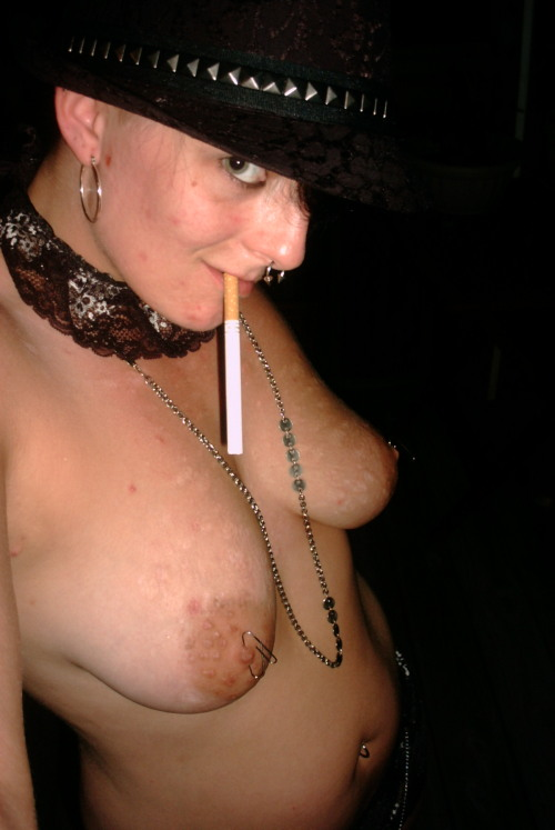 Love my stogies.  Yeah, those are paper clips thru my nipples.  Please ask!  ;)