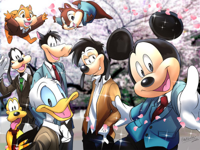 thesassylorax:  frantabulosa:   ディズニー学園へようこそ!!  I hope Mickey-sempai notices me.   Ouran Mouse Club