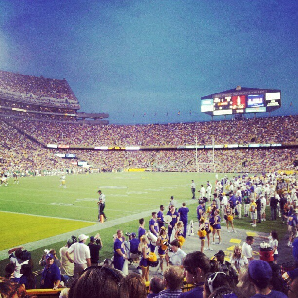 Last first home game :( (Taken with Instagram at Tiger Stadium)