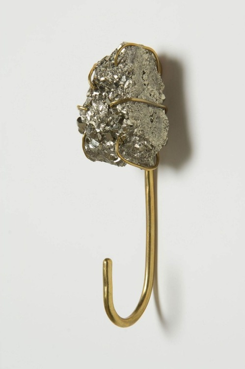 raw pyrite hook/anthropologie