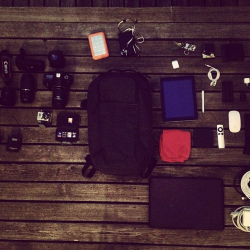 Our DPs backpack! (Taken with Instagram at Gradient Productions)
