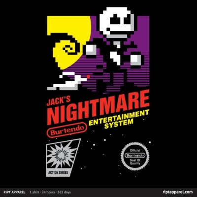Limited Edition Tshirt: Jack's Nightmare by Brinkerhoff is on sale for $10.00 from RiptApparel for 24 hours only.