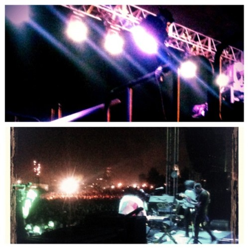 Backstage, M83, FYF! (Taken with Instagram)
