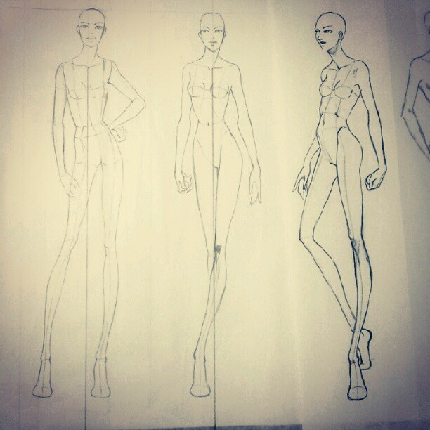 Preparing my next #fashion army of #womenswear with my nude #design #croquis (Taken with Instagram)