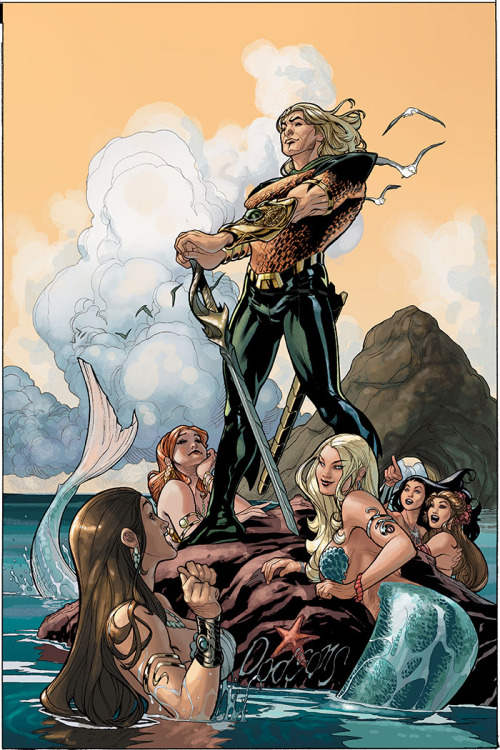 comicsforever:  Aquaman: It's Good To Be The King! // artwork by Terry Dodson (2010)