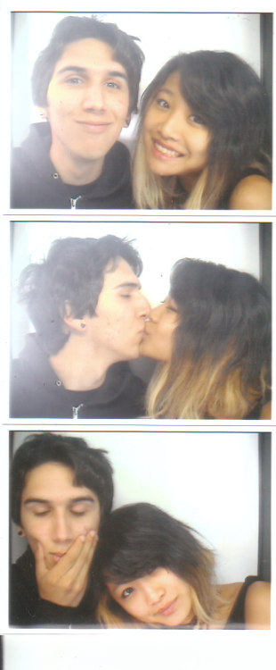 Just got home from my little vacation with Evan. There was a photo booth in the lobby of the hotel we stayed at.