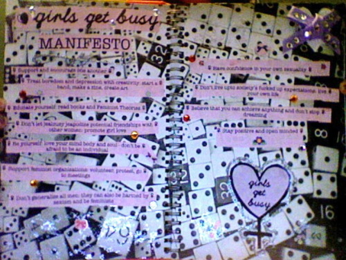 brittneymcgosling:  Crappy webcam picture of my Girls Get Busy page in my smash book.