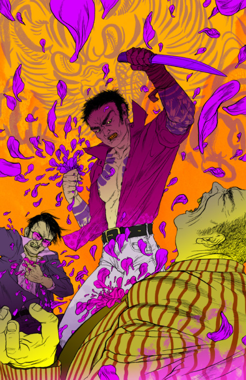 Dororonnnn~! My submission for Battles without Honor and Humanity, yakuza-eiga inspired art show, held again by wonderful Sloane at Floating World Comics, OR. Actually I feel a bit intimidated by the quality of works that are going to be there - so many breathtaking pieces!! If you saw some of them circulating on tumblr already, you know for yourself… the level is really high. Worth checking out, you guys!!!
