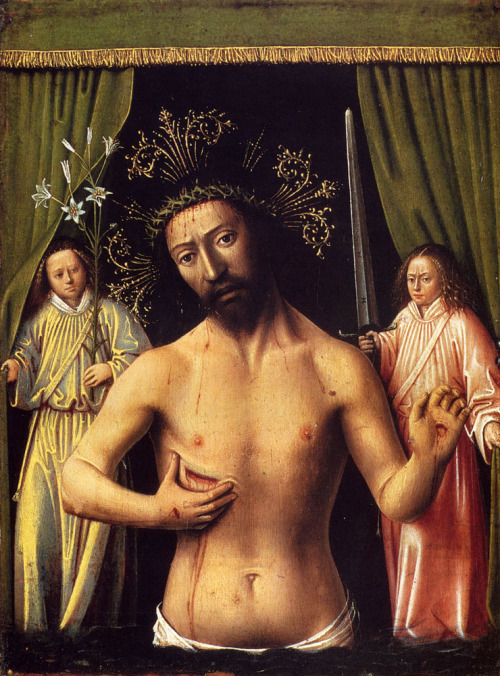 unclegrimace:  The Man of Sorrows  Artist: Petrus Christus