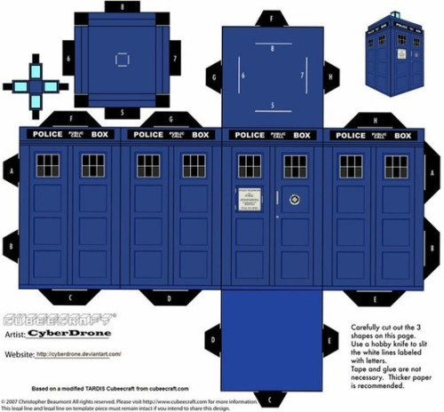 Make your own mini TARDIS!