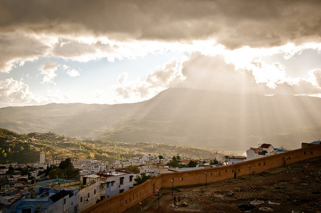 | ♕ |  Sunset over Chefchaouen - Morocco | by © Zanthia