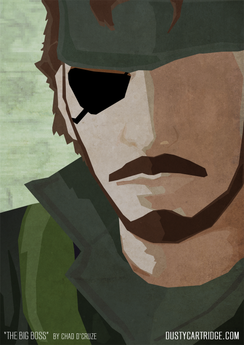 Full size version of my Big Boss / Christian Bale piece. Original Post: http://dcruze.tumblr.com/post/30711880536/christian-bale-is-the-big-boss http://dustycartridge.com/