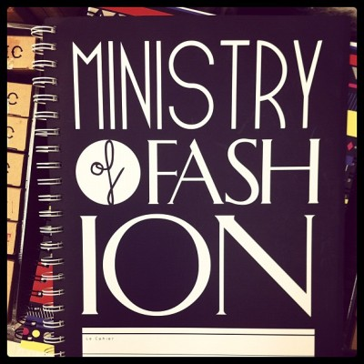 Ministry of Fashion Notebook  (Taken with Instagram)