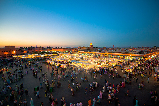 | ♕ |  Night Bazaar - Marrakesh, Morocco  | by © Zanthia