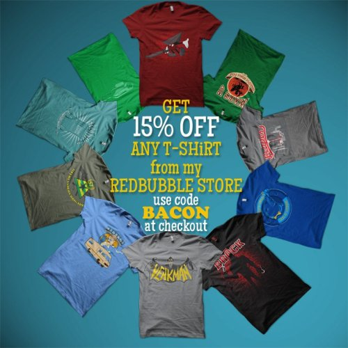 15% OFF ANY ORDER from my redbubble storeuse promocode BACON