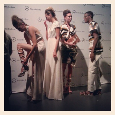 #AnaLocking en Mercedes-Benz Fashion Week Madrid (Tomada con Instagram)