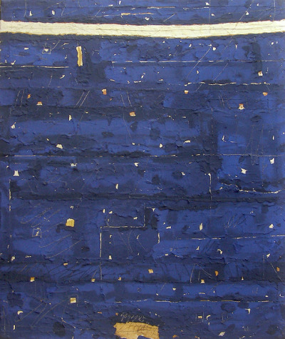 iamjapanese:  Georges Noël(French, 1924-2010) Pacific Ocean Palimpseste    Mixed media
