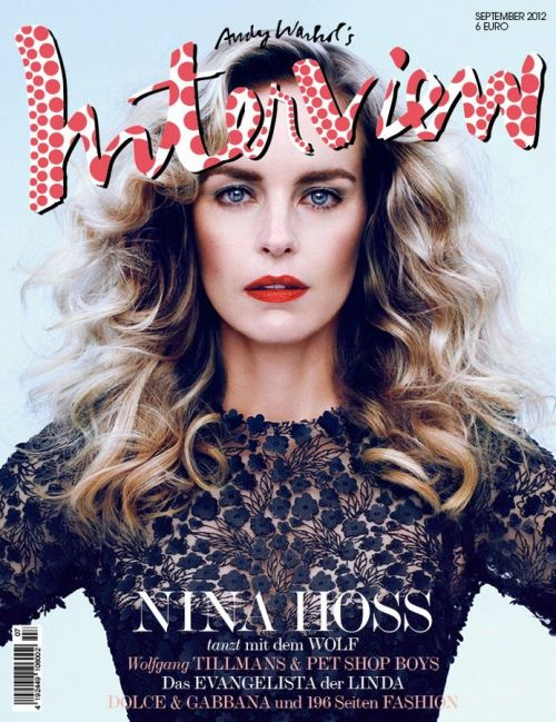 Actress Nina Hoss lands the September cover of Interview Germany magaazine, lensed by Sebastian Mader.  Original Article