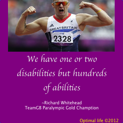 Fabulous, inspiring words from para-athlete Gold winner, Richard Whitehead.