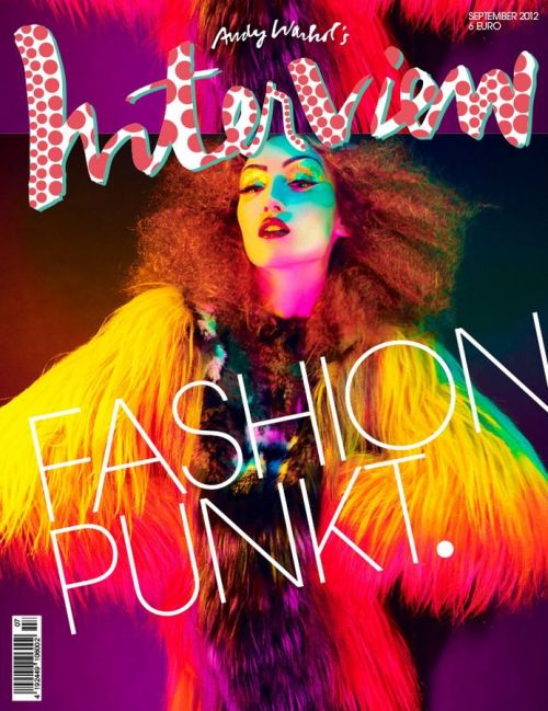 Alex Yureyeva stars as an another cover girl for the Interview Germany September issue, captured by Xevi Muntané.  Original Article